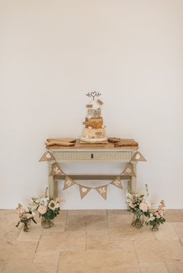 Stacked cheese tower on purpose built solid oak topped 'cheese table'