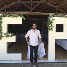 Bespoke creations like these 2m x 1m wooden letters